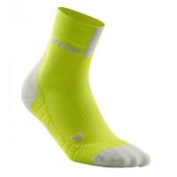 Cep Short Socks 3.0 Lime/Light Grey